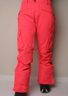 686 Mujer Mistress Aislado Cargo Snowboard Pantalones (S) Eléctrico Amapola
