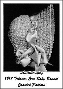 CROCHET CHRISTENING BONNET PATTERN | How to Crochet