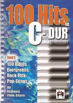 Keyboard  Gitarre Noten - 100 HITS IN C-DUR - Band 5 - NEU