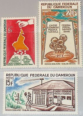 CAMEROUN KAMERUN 1965 430-32 415-17 Federal Postal Savings Banks Sparkasse MNH