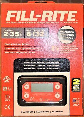 Fill-rite Tt10an 1 2-35gpm Digital In-line Turbine Meter - New