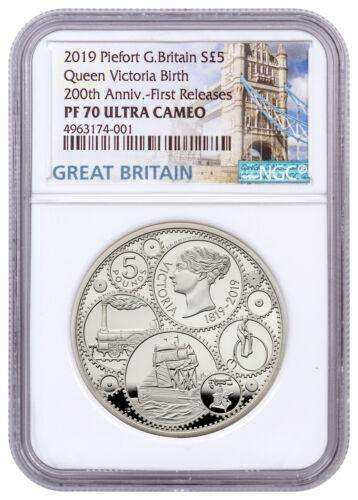 2019 Britain 200th Queen Victoria 1.82oz Silver Piedfort NGC PF70 UC FR SKU58100