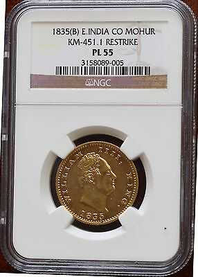 Click now to see the BUY IT NOW Price! 1835 BRITISH INDIA-GOLD MOHUR-KM-451.1 RESTRIKE-NGC-PL 55-SUPER