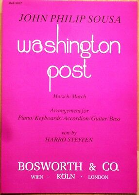 Noten Washington Post Marsch  - Piano,Keyboard,Accordion Gitarre,Bass