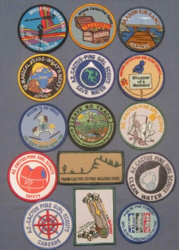 Girl Scout , Arizona Cactus Pine Council , Group of 15 Patches