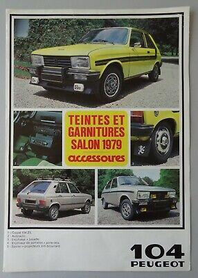 S003 PEUGEOT 104 BERLINE COUPE - COLOR BOOK - 1979 - A4 - FR