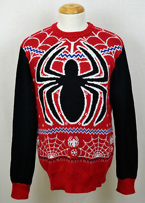 Spider-Man Ugly Xmas Sweater Marvel Comics Superhero Holiday Christmas Red](Mens Ugly Xmas Sweaters)