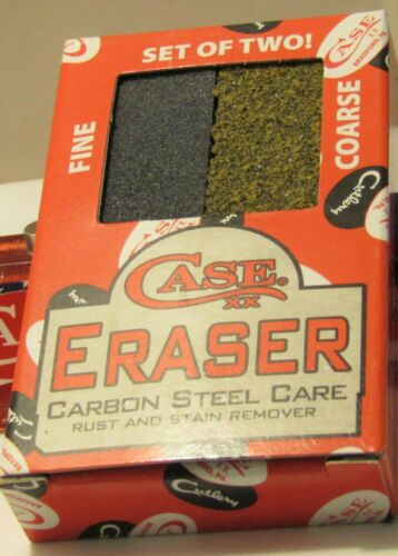 Case XX Eraser Carbon Steel Care rust & stain remover knife collector must have