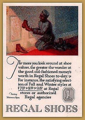 Americana Regal (1921 a Print Ad Regal Shoes Black Americana Shoe Shine Boy Hotel Art)