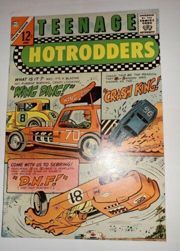 Teenage Hotrodders #18 Charlton Comics 1966 HIGH GRADE warehouse find unread