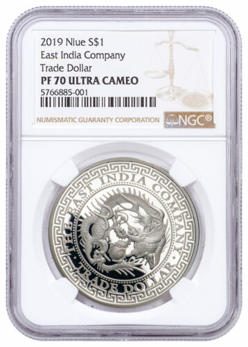 2019 Niue 1 oz Silver $1 Japanese Trade Dollar Proof NGC PF70 UC SKU58796