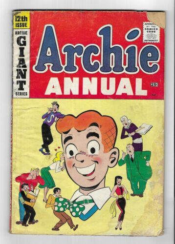 ARCHIE COMICS Annual #12 SILVER AGE GIANT 84pg COMIC BOOK Betty Veronica 1960-61