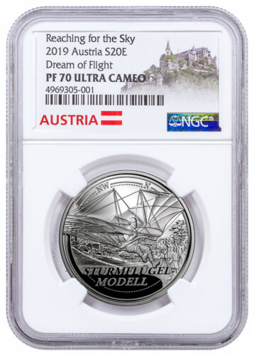 2019 Austria Reaching for the Sky Dream of Flight Silver NGC PF70 UC SKU58132