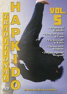 Traditional Hapkido #5 Weapons Short Stick Cane Staff Knife DVD GM Jong Bae Rim