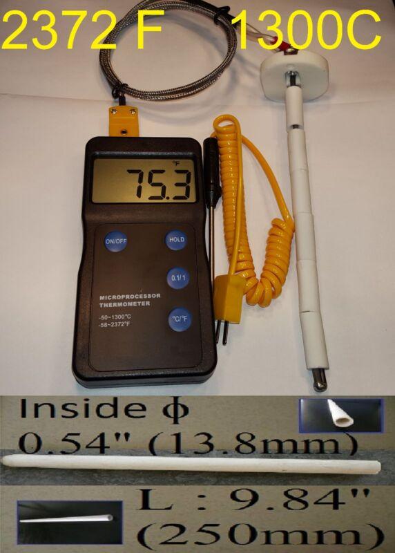Digital pyrometer F,C pottery ceramic glass kiln Probe Thermocouple Ceramic Tube