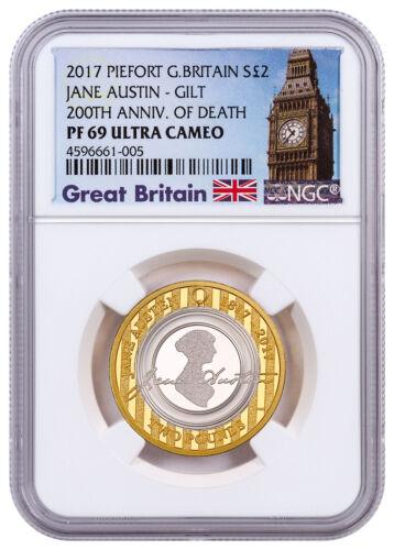 2017 Britain Enduring Romance Jane Austen Piedfort Silver NGC PF69 UC SKU49034