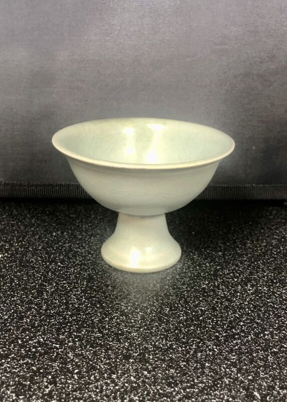 Old Asian celadon goblet (not sure if it's Japanese, Korean or Chinese)