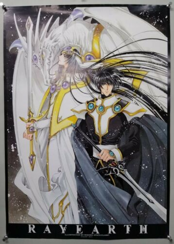 MAGIC KNIGHT RAYEARTH - A1 size Poster Rare CLAMP Style 04