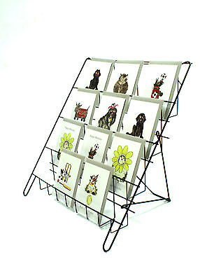 Counter Standing Collapsable Card Display in Black for Shops & Stalls (E8B)