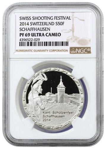2014 Switzerland Silver Shooting Festival Schaffhausen NGC PF69 UC SKU31121