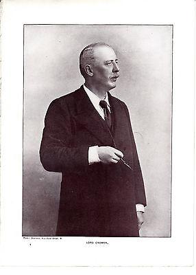 Boer War Period, Lord Cromer. Antique Scarce  print circ 1902