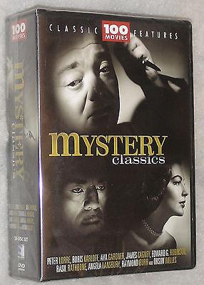 Mystery Classics - 100 Movies Detective, Thriller, Sherlock Holmes  DVD Box Set