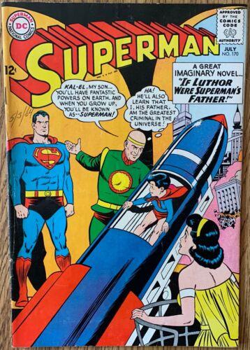 SUPERMAN COMIC (DC,1964) #170 SILVER AGE ~