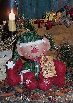 Primitive Raggedy Noah Elf Christmas Doll Paper Pattern #187