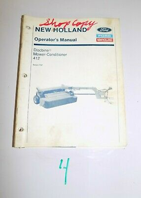 Ford New Holland 412 Discbine Operators Manual 42041210 2-92