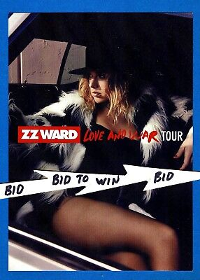ZZ WARD Set 0f 2 Original LOVE and WAR Tour Promo Cards Very COOL