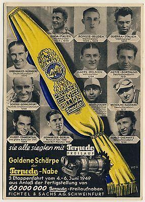 Fichtel & Sachs TORPEDO Nabe / Fahrrad Bicycle * Reklame-AK 1940s Advertising PC