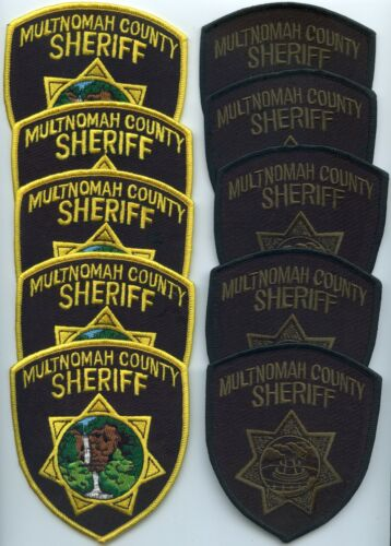MULTNOMAH COUNTY OREGON Trade Stock 10 Police Patches SHERIFF POLICE PATCH