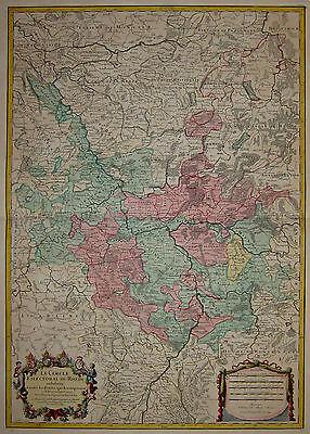 Le Cercle Eslectoral du Rhein - Rhein von Straßburg bis Kleve - Jaillot 1734