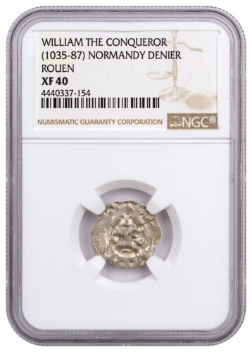(c. 1035-87) Normandy Rouen Silver Denier of William Conqueror NGC XF40 SKU46872