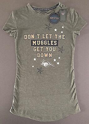 Harry Potter Damen Nachthemd Muggle Kurzarm Schlafshirt T-Shirt XS-S-M-L Primark