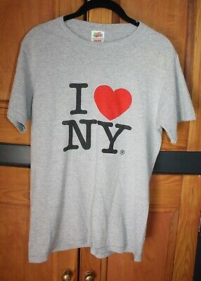 Unisex I Love New York T Shirt Vintage Style - Small