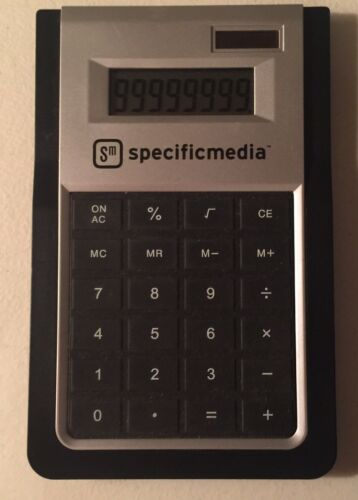 SM Specific Media Solar Powered Desk Calculator ~Works