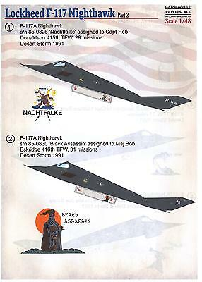 Print Scale Decals 1/48 LOCKHEED F-117 NIGHTHAWK Stealth Fighter Part 2