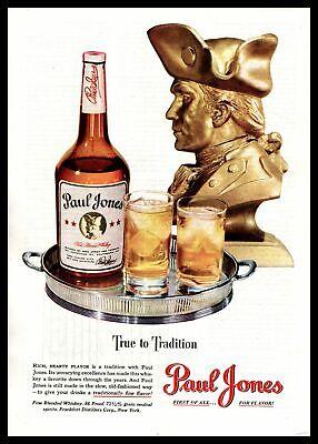 "1948 Paul Jones Fine Blended Whiskey ""True To Tradition"" Golden Bust Print Ad"