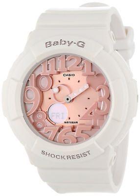 Casio Women's BGA131-7B2 Baby-G Rose Gold and White Resin Digital Watch