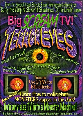 BIG SCREAM TV TERROR EYES VIRTUAL HALLOWEEN HAUNTED HOUSE TV DECORATION EFFECTS!](Virtual Halloween)