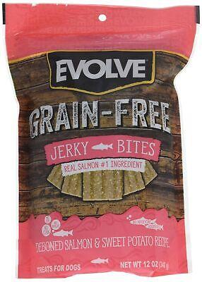 Evolve Grain Free Deboned Salmon & Sweet Potato Recipe Jerky Bites, -