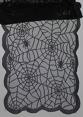 Halloween  Spider Web Table Runner 13x72 inch NWT