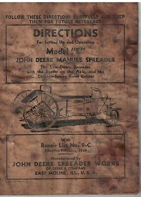 Vintage John Deere Manure Spreader Model E Wooden Construction