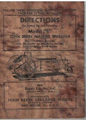 Vintage John Deere Manure Spreader Model E Wooden Construction