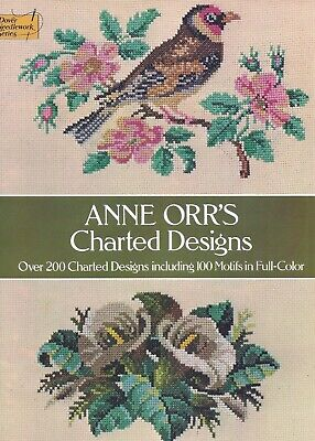 Vintage Floral Birds Flowers Sampler Needlepoint Charts Pattern Book 200 Designs