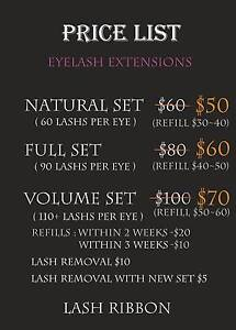 EYELASH EXTENSIONS EVENT FROM $50 West Melbourne Melbourne City Preview