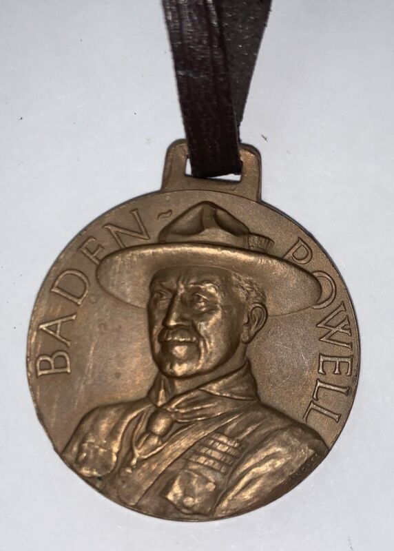 Boy Scout Baden Powell 1957 Medal Watch Fob (5-67)