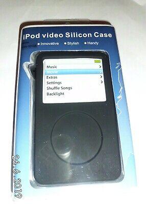 Black ipod video classic silicone case & Lanyard UK Silicon Case Ipod Video