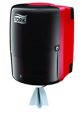 Shop Towel Centerfeed Dispenser By Tork Red And Smoke Plastic 659028a